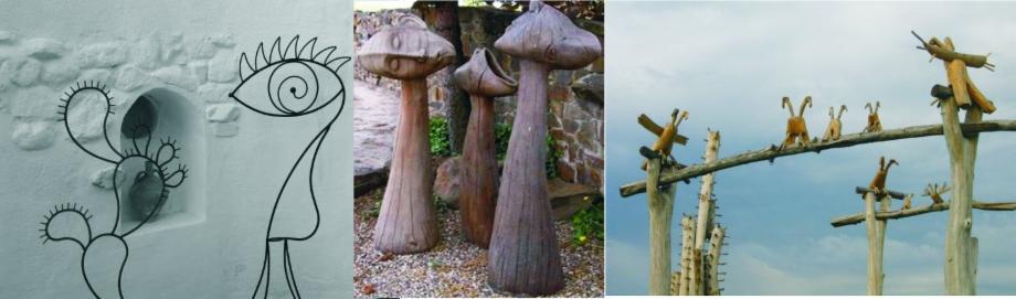 Esculturas el jardin de hierro un lugar singular para for Esculturas en jardines